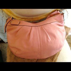 Coach Pink Leather Soho Hobo Shoulder Bag